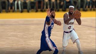 New Look NBA   Sixers vs Lakers   Ben Simmons vs Lebron James   NBA 2K19 Updated Rosters
