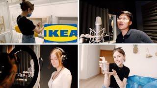 COMPRAS EN IKEA CON MI ESPOSO + Grabando canciones ❣️🎙