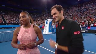 Serena Williams and Roger Federer on-court interview (RR) | Mastercard Hopman Cup 2019