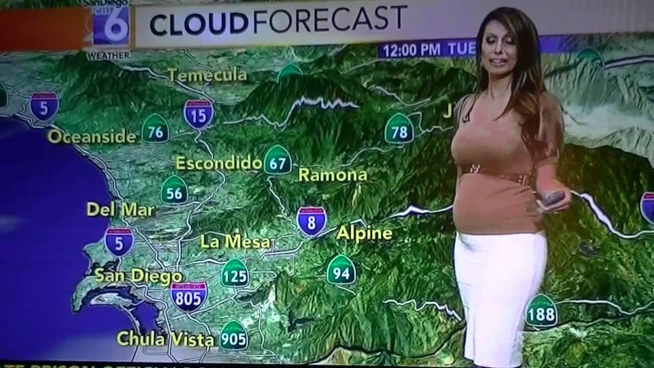 Pregnant Weather Lady Wearing Too Tight Clothes On Tv
