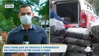 Uma tonelada de drogas é apreendida em operação entre Ceará e Pará