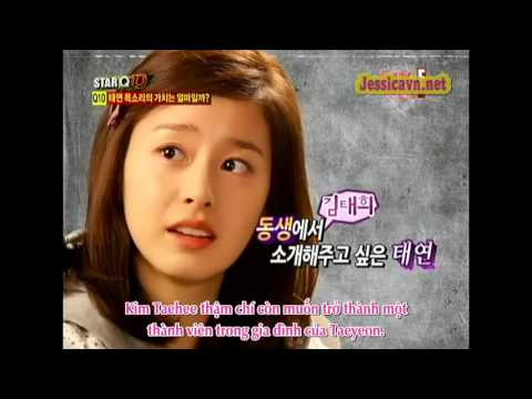 [Vietsub] Taeyeon cut [110209] ETV STAR Q10