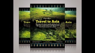 Tutorial Video - How to create Travel to Asia flyer template in Photoshop