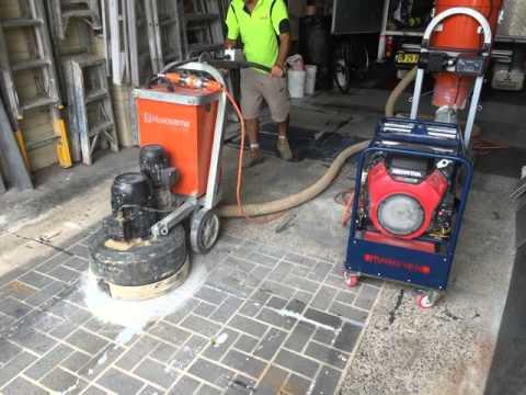 18kVA Generator powering a floor grinder V2