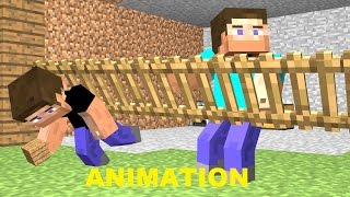MINECRAFT Workin' with a NOOB 1 (Funny Animation)