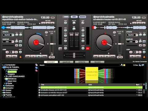 tutorial como usar o virtual dj no seu pc