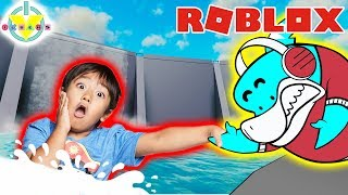 RYAN ESCAPED THE FLOOD IN ROBLOX! Let's Play Flood Escape with Big Gil