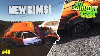 New Wheels! - Flat Tire | My Summer Car Beta
