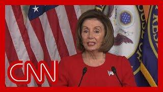 Nancy Pelosi sostiene que las acciones de Trump en el escándalo ucraniano constituyen 'soborno'