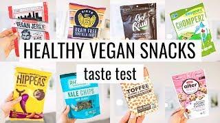 HEALTHY VEGAN SNACKS ♡ my first TASTE TEST video!