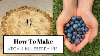 How To Make | VEGAN Blueberry Pie | Perfect for EASTER!