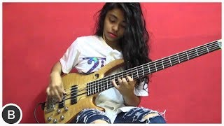 Amazing Young Bassist Mohini Dey