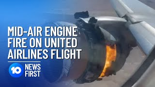 Plane Engine On Fire Drops Debris Across Colorado | 10 News First