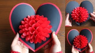 DIY Flower Pop up Card-Paper Crafts-Handmade Craft