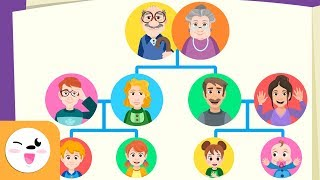 Vocabulary about FAMILY for children - Family tree for kids