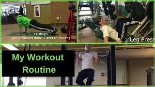 My New Gym Workout Routine!
