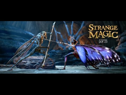 "Strange Magic Official US Trailer, ""Strange Magic,"" a new animated film from Lucasfilm Ltd., is a madcap fairy tale musical inspired by ""A Midsummer Night's Dream."" Popular songs from the past six decades help tell the tale of a colorful cast of goblins, elves, fairies and imps,..."