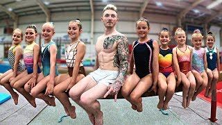 Trying Women's BEAM with 7 year old Gymnasts..{Stupid Idea!}