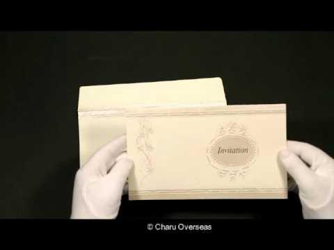 IVORY MATTE FOIL STAMPED WEDDING CARD : CD-1328 - IndianWeddingCards
