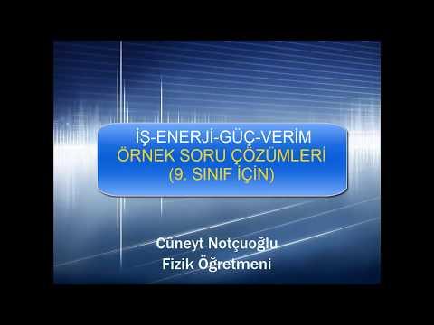 İŞ ENERJİ VERİM ÖRNEK SORULAR-3
