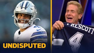 Skip Bayless reacts to Dak Prescott signing a 4-year/$160M deal with Cowboys | NFL | UNDISPUTED