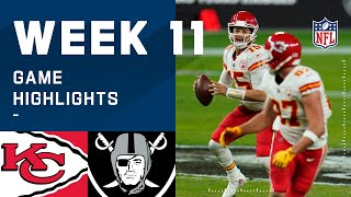 Chiefs vs. Raiders Week 11 Highlights   NFL 2020