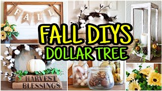 Fall Dollar Tree DIY 🍁 Fall DIY Farmhouse Decor