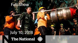 The National for July 10, 2018 — Thai Cave Rescue, NATO, Humboldt Broncos