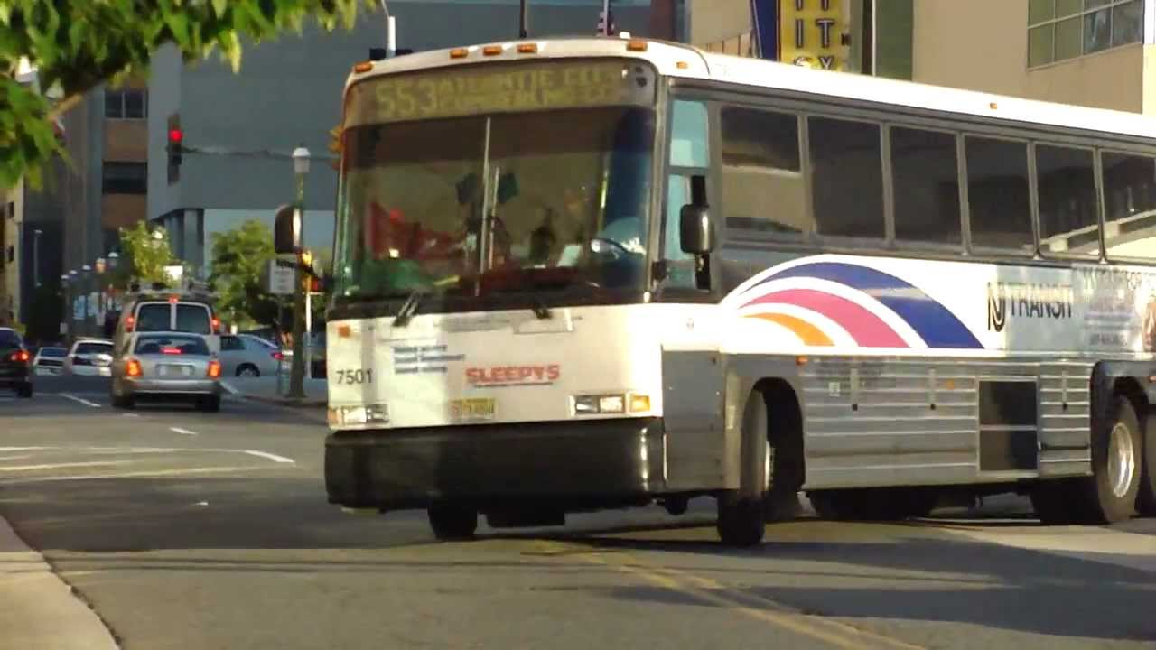 nj transit bus 2000 mci 102 dw3ss route 553 express bus 7501 at atlantic city terminal youtube. Black Bedroom Furniture Sets. Home Design Ideas