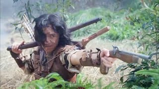 Chinese hunter soldiers shoot the enemy with a flame arrow!Hunter soldier 07