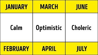 Scientists Prove: Your Birth Month Defines Your Health and Personality