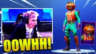 NINJA GOT *NEW* TOMATOHEAD SKIN LIVE IN ESPORTS!! - Fortnite Best & Funny Moments (Fortnite BR)