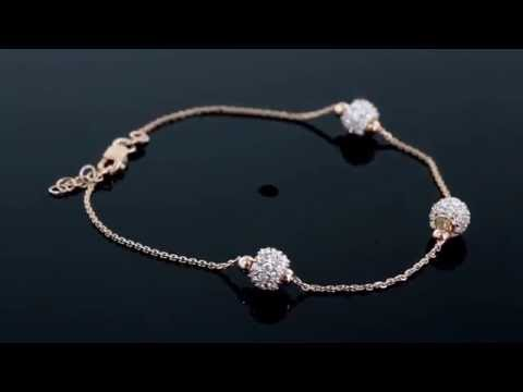 Browns Family Jewellers Cubic Zirconia Cluster Bracelet