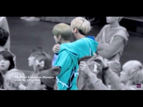 Hun♥Han [Sehun-Luhan] @ Idol Star Olympics