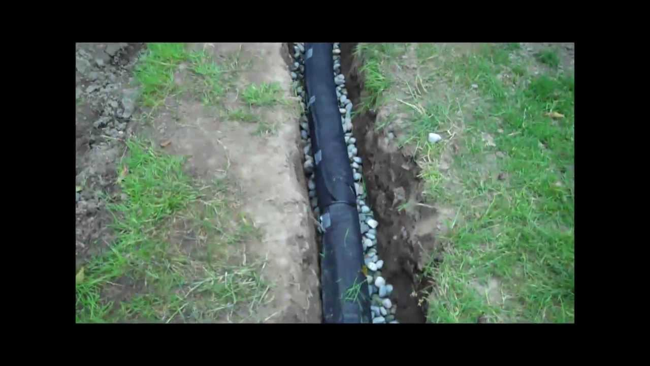How To Install A Drainage Pipe Youtube