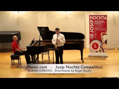 Josip Nochta Competition GORAN JURKOVIC Divertimento by Roger Boutry