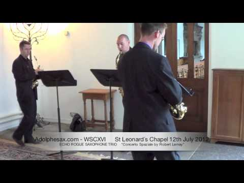 WSCXVI ECHO ROGUE SAXOPHONE TRIO   Concerto Spaziale by Robert Lemay