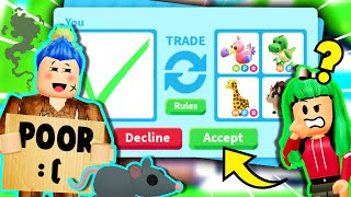 I PRETENDED To Be *POOR* To TEST How My *CRUSH* Would REACT For 24 Hours *PRANK* In Adopt Me Roblox!