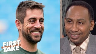 Stephen A. makes excuses for that 'baaad' man Aaron Rodgers & Damien Woody is fed up! | First Take