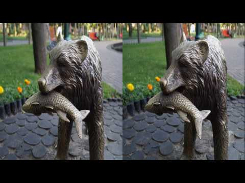 Morning Park 3D ! Positive sea at 5am ! 3D VIDEO
