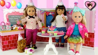 Jojo Siwa Doll Birthday Party - Opening Surprise Gifts and American Girl Toys
