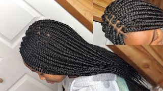 20 INCHES BOX BRAIDS TUTORIAL | EXTREMELY NEAT!
