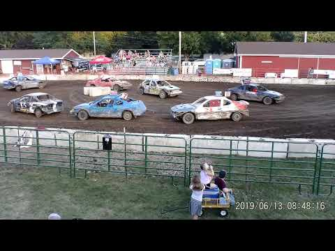 Manchester Community Fair 2019 Figure Eight Consi (FWD cars) (July 13,2019) Manchester,Michigan