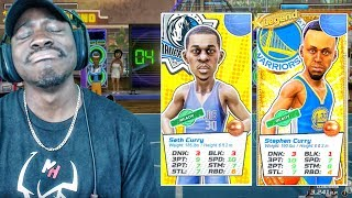 STEPHEN CURRY vs SETH CURRY RAINING 3'S ONLINE! NBA Playgrounds Gameplay Ep. 13