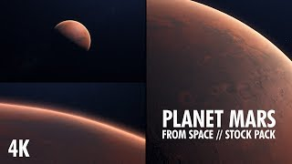 Planet Mars Stock Footage 4K
