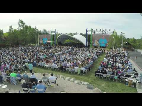 Easter 2017 Aerial Lake Forest Crowds