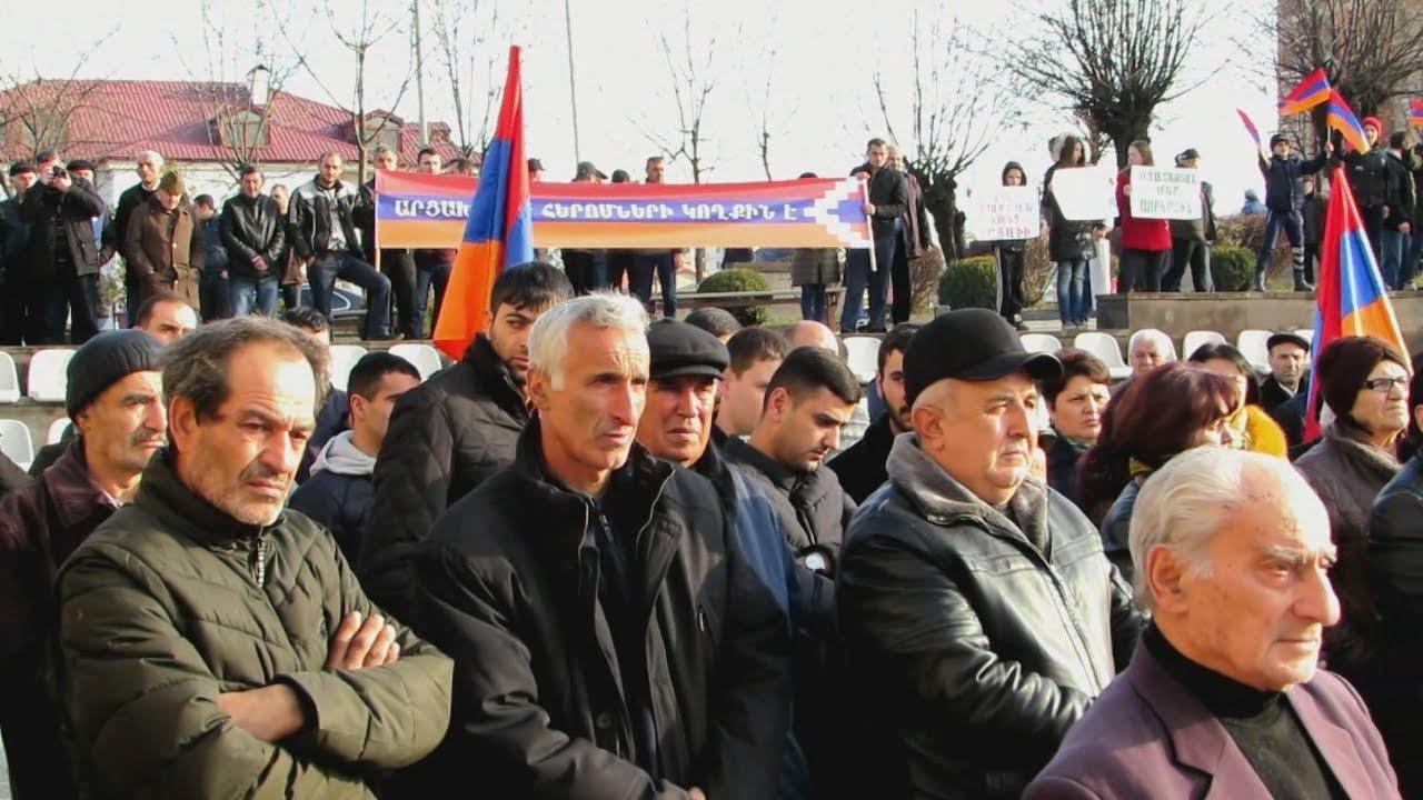 Освободить Кочаряна потребовали на митинге в Степанакерте