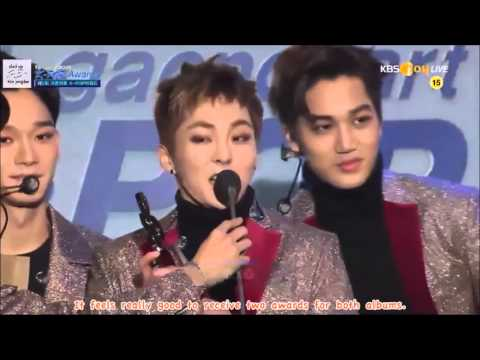 [ENG SUB] 160217 가온차트 Gaon Chart K-Pop Awards EXO Awards