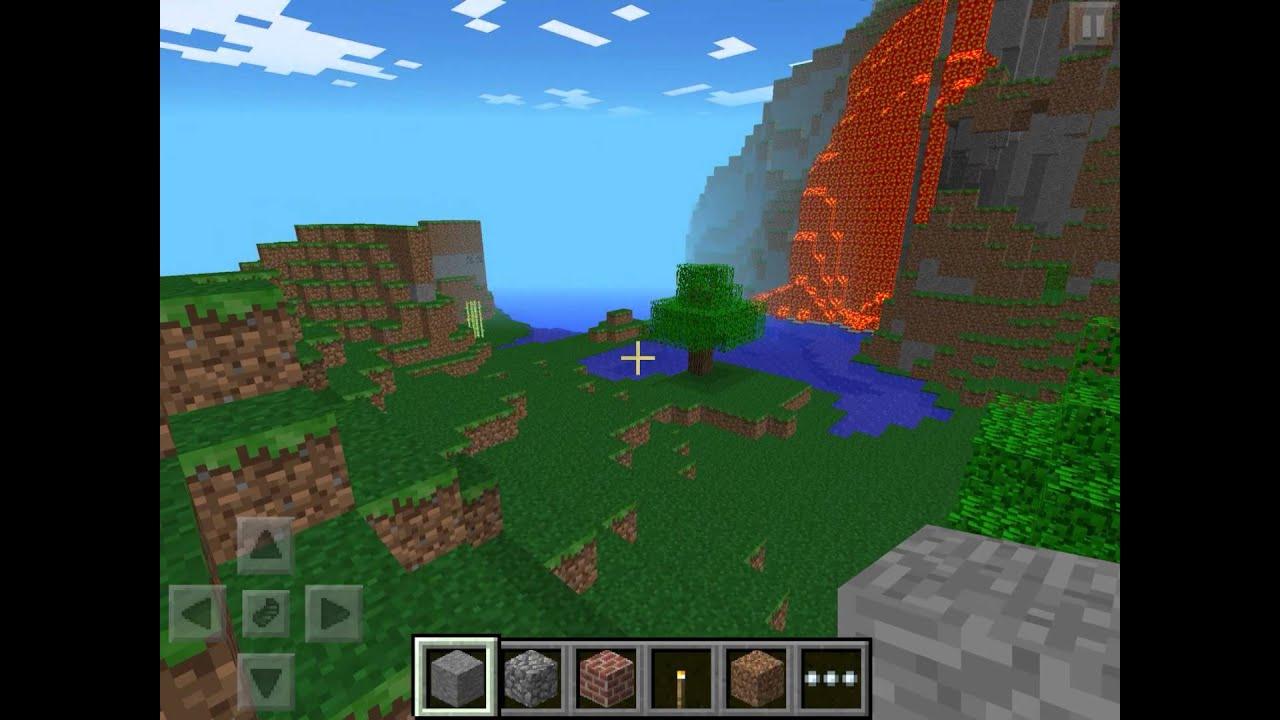 Minecraft pe huge lava fall seed! - YouTube