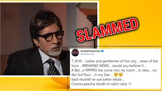 Amitabh Bachchan slammed by Twitterati for joking about co..